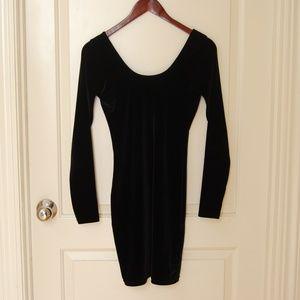 AMERICAN APPAREL Velvet Long Sleeved Bodycon Dress